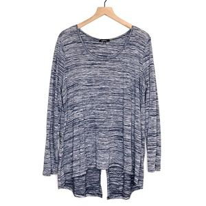 Ambiance Plus Size Blue Long Sleeve Top - Size 3X